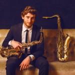 DJ met saxofonist boeken visual 2